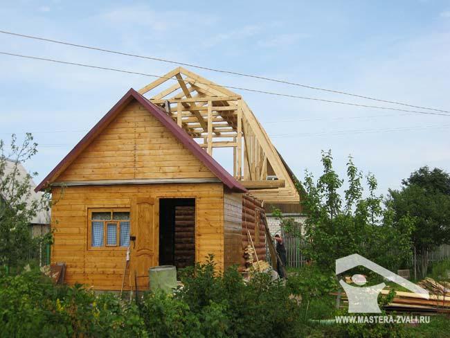 Как сделать крышу у садового домика 232
