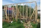 Строительство гаража из дерева