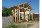 Строительство гаража из бруса