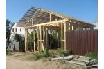 Гараж из деревянных конструкций