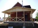 Загородный дом - веранда, пристройка